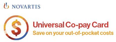 Novartis Universal Co-pay Program (Co-pay Card) Patient Assistance program